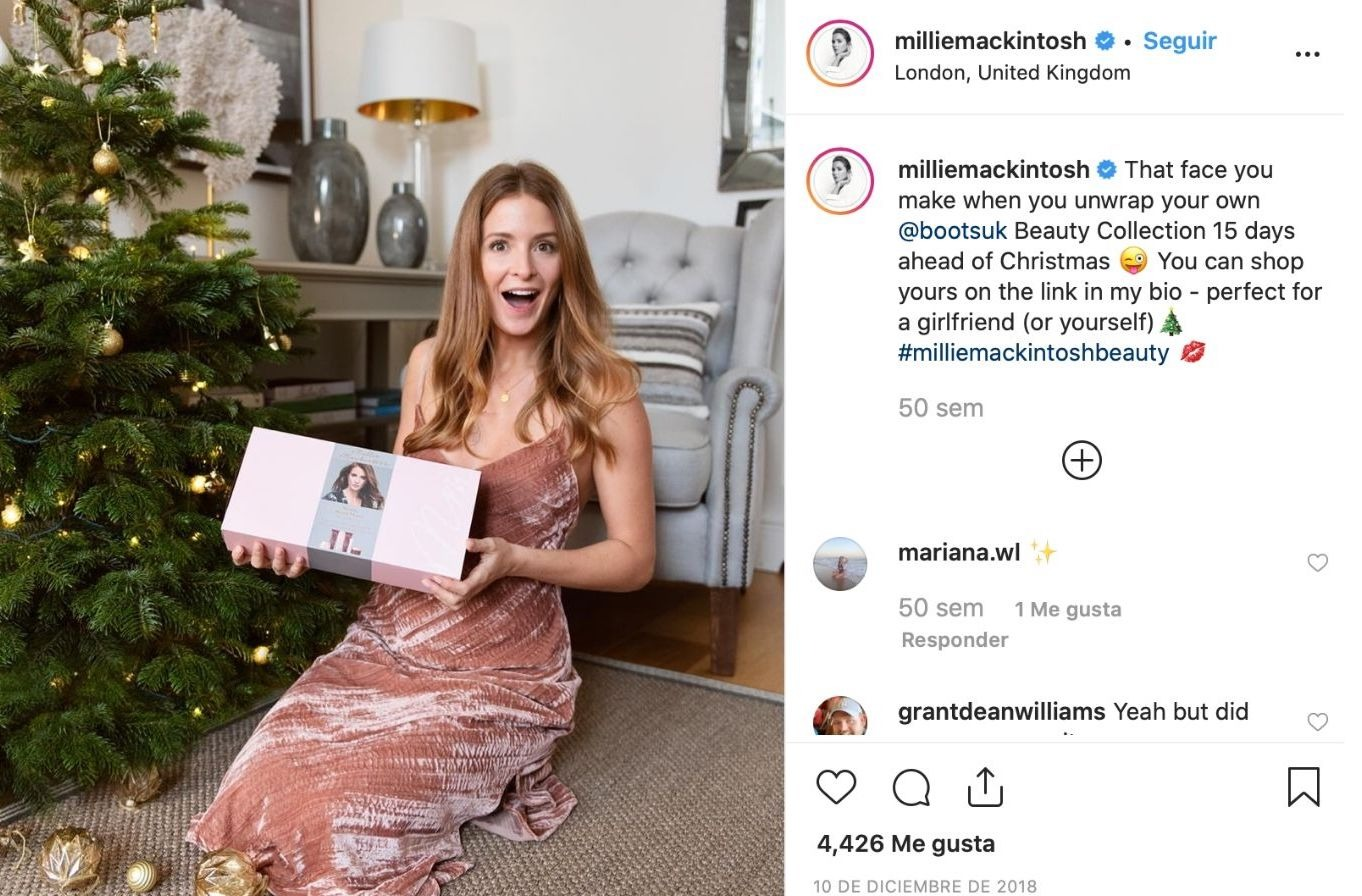 Instagram Christmas product marketing