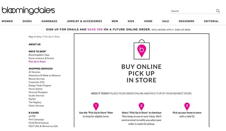 Omnichannel shopping strategy