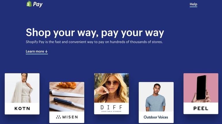 Shopify Pay gateway