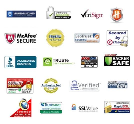 Online trust seals for websites