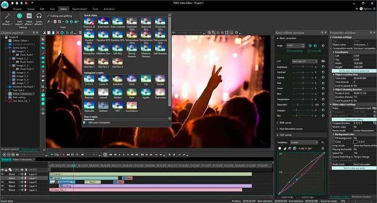 Best video editors VSDC