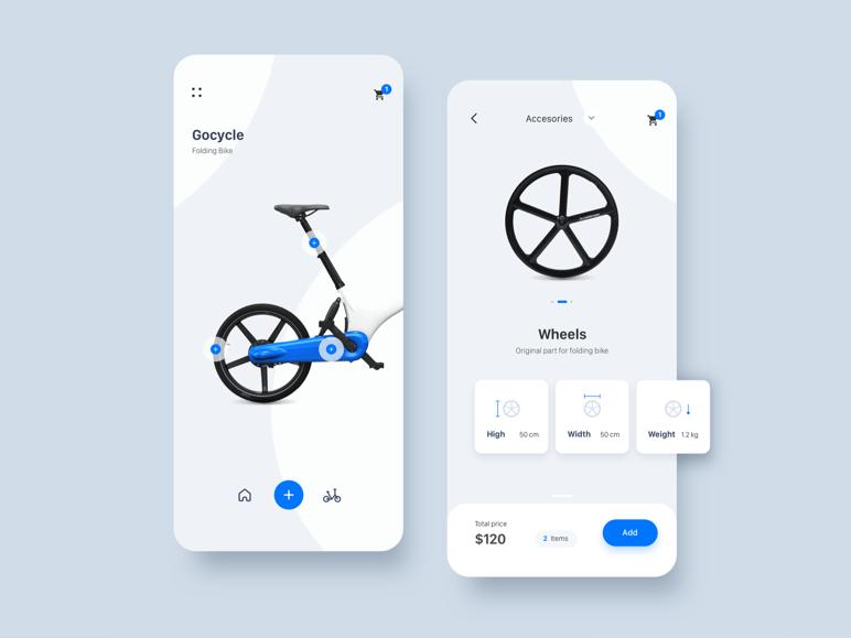 Diseño app móvil tienda de bicicletas