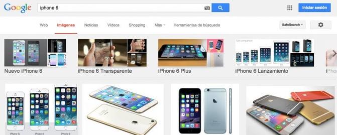 Ejemplo de Alt Tag en las búsquedas de Google