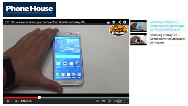 videos en ficha de producto tienda online