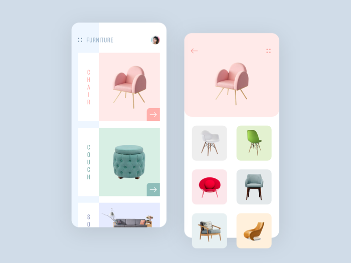 Furniture shop app by Mindinventory