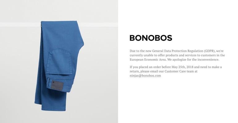 Tiendas sin ecommerce durante COVID Bonobos