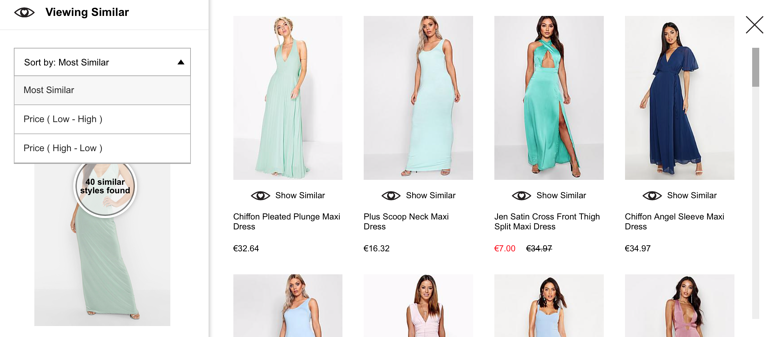 Boohoo similar products search
