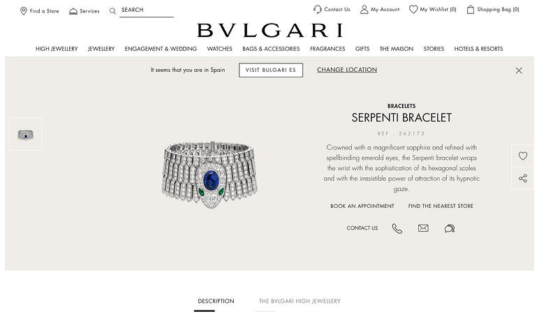 Bulgari jewelry website