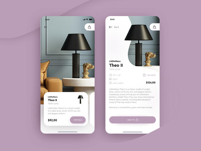 Lighting products shop app for Netguru