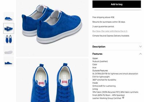 Catálogo digital de calzado