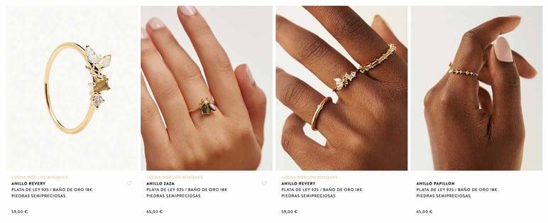 Gestionar catálogo online de joyas