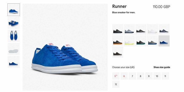 Catálogo online de zapatos