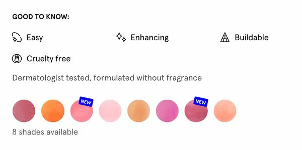 Etiquetas de productos cosméticos