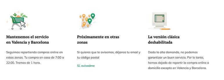 Coronavirus tienda online Mercadona