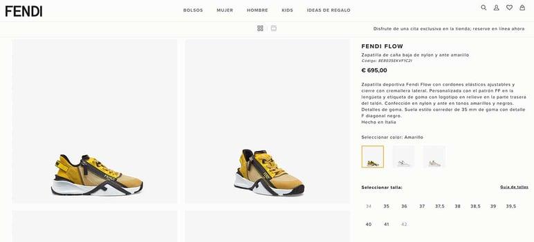 Cómo crear ficha de producto de moda
