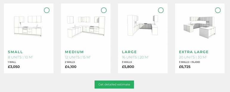 Create a furniture catalog