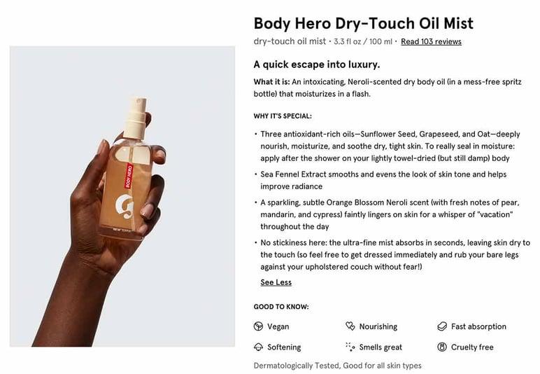 Descripción de producto para tienda online