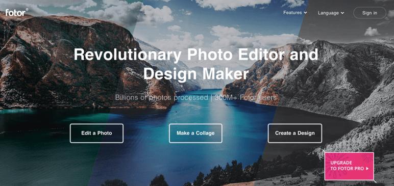 Fotor editores de fotos online gratis con efectos