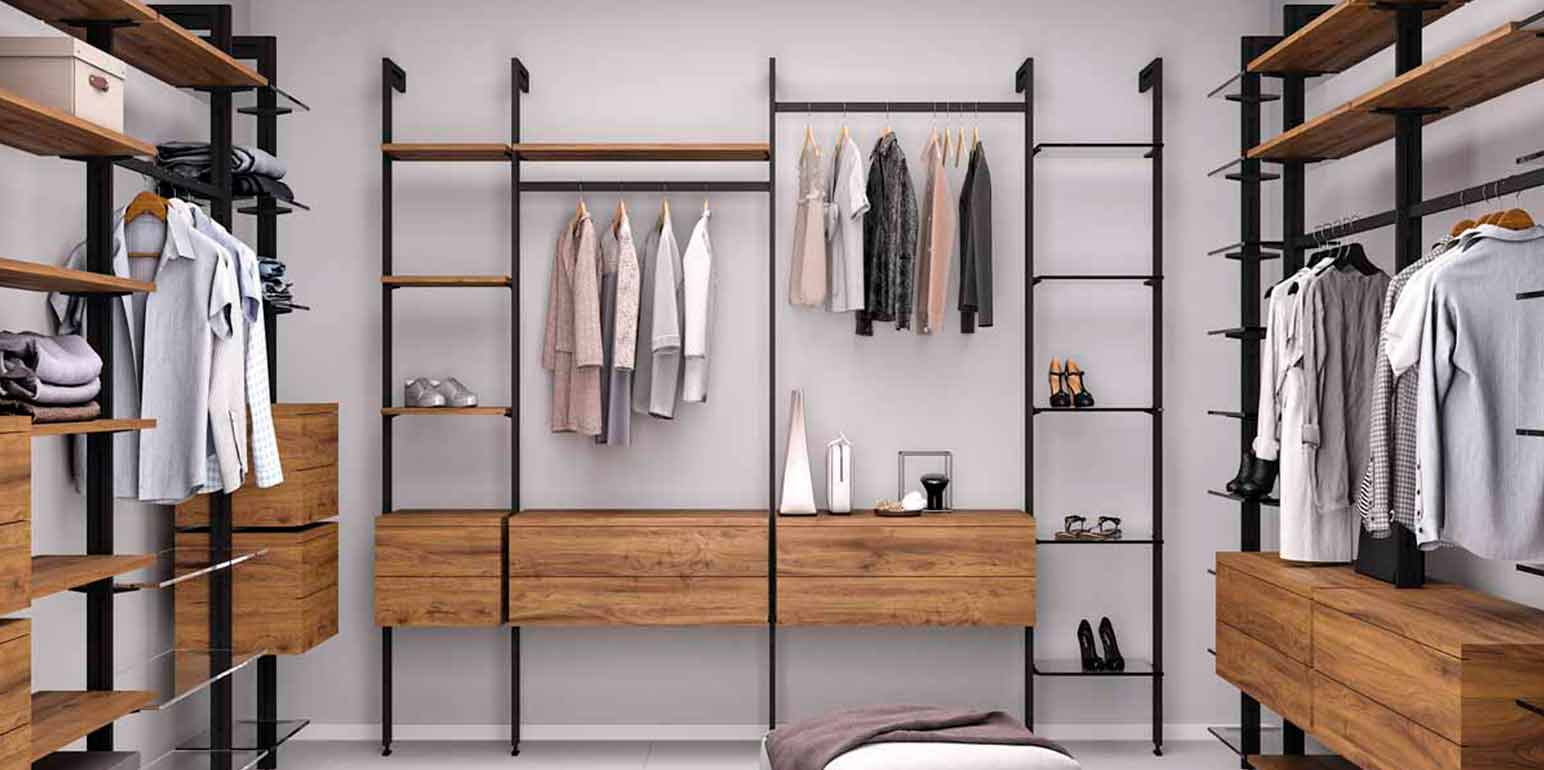 Wardrobe structure for clothes from emuca catalog