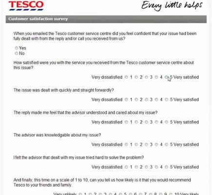 Encuesta online para ecommerce