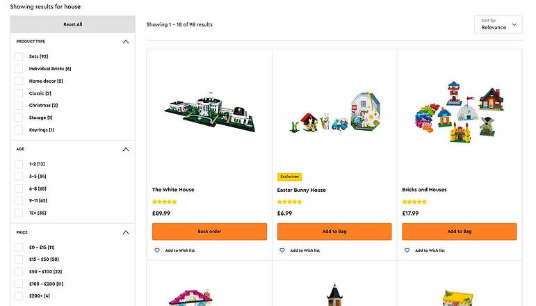 Faceted navigation in ecommerce