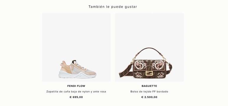 Cross selling en tienda online de moda