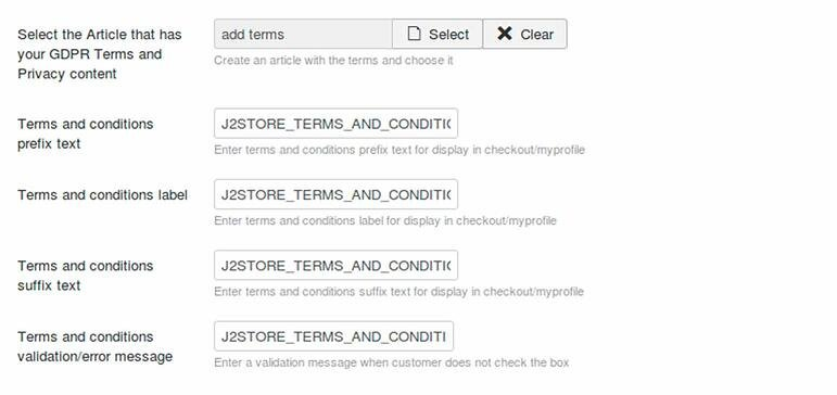 Gdpr module for ecommerce