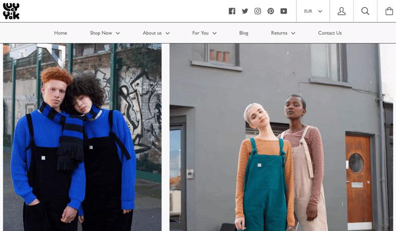 Lucy & Yak homepage
