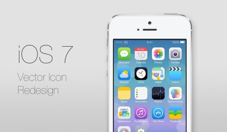 Interface of iOS 7 2013
