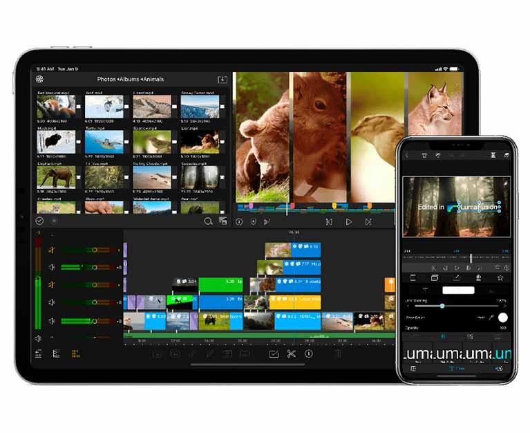Mejores editores de videos para iPhone Lumafusion