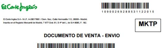 Marketplace El Corte Inglés