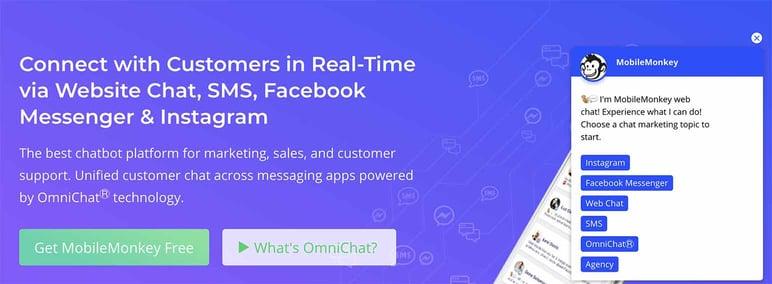 Los mejores chatbot para ecommerce Mobilemonkey