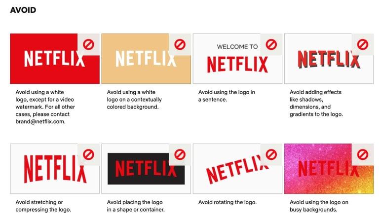 Netflix brand style guide