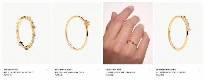 Jewelry online catalog