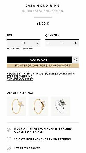 Jewelry online sales