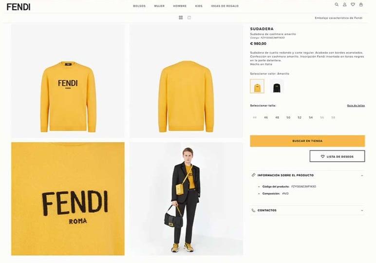 Fichas de producto originales para moda