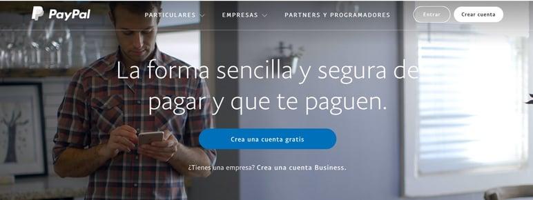 Paypal métodos pago online