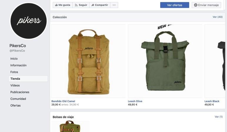 Pikers Facebook store