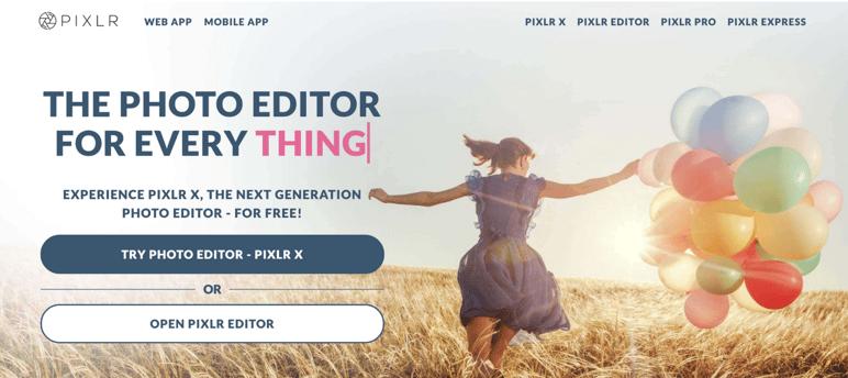 Pixlr editor de fotos profesionales gratis