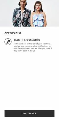 Popup ASOS app