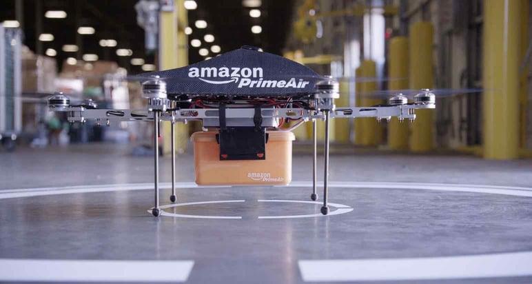 Inteligencia artificial para almacén con dron Amazon