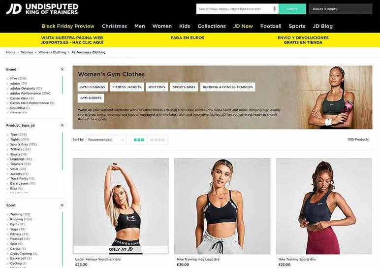 Sport goods ecommerce