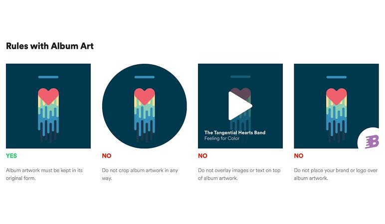 Spotify brand style guide