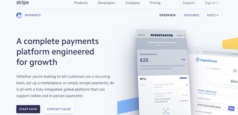 Payment systems online store