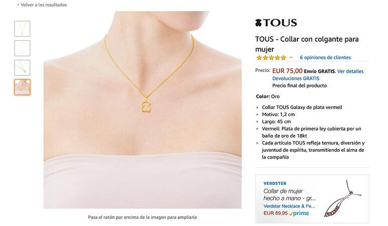 Tous Amazon product page