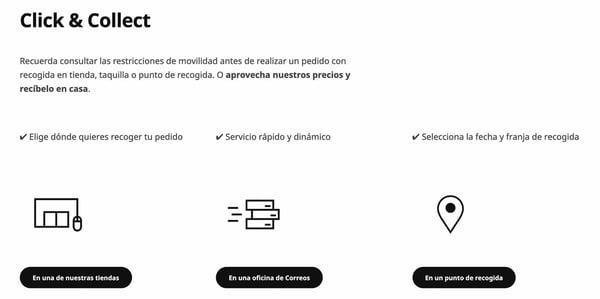 Condiciones de servicio click-and-collect en IKEA