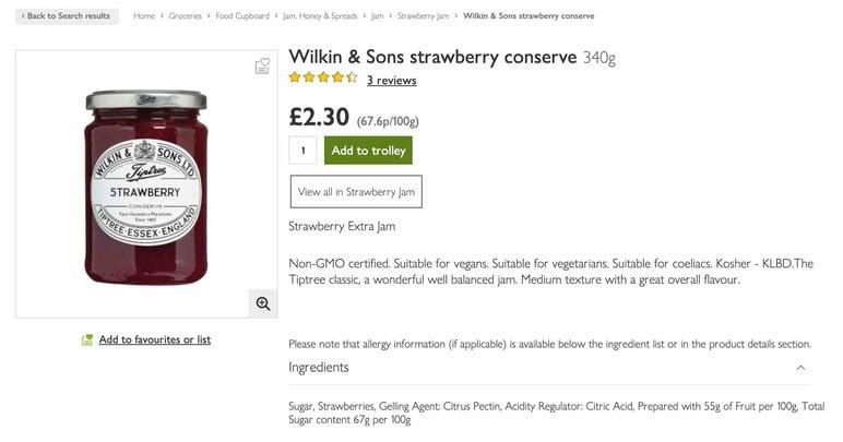 Grocery ecommerce Waitrose